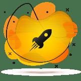 rakieta animacja ikona atrakcyjne ceny boost promowanie instagrama